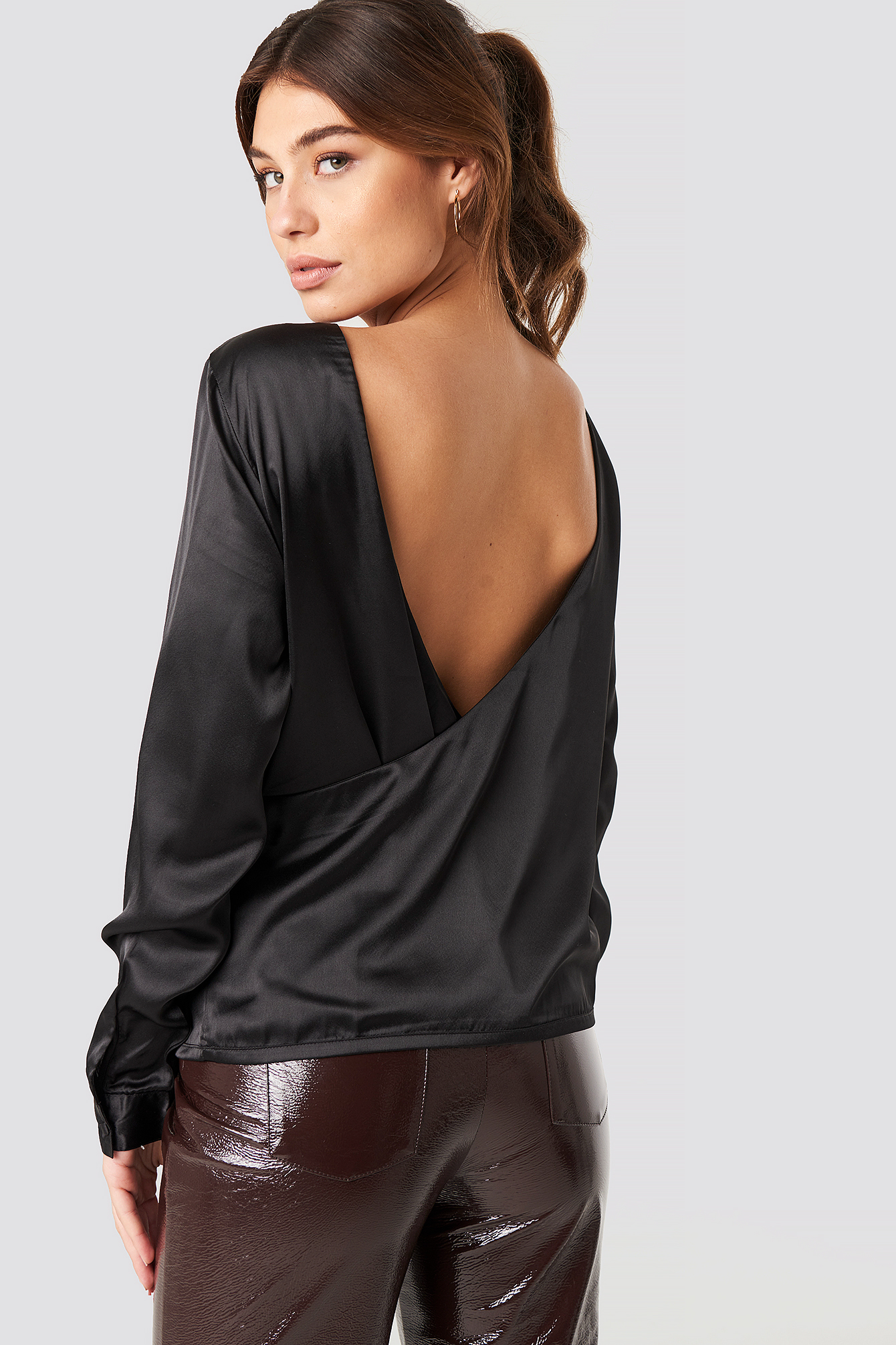 Back Wrap Blouse  NA-KD.COM