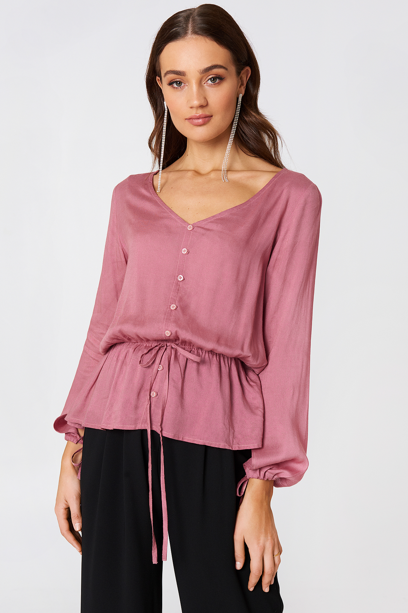 Beline Button Blouse NA-KD.COM