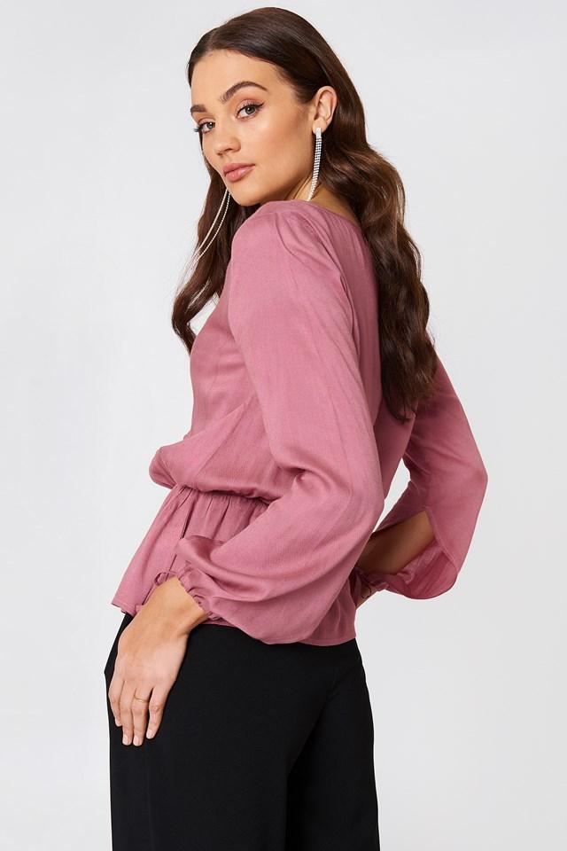 Bluzka z guzikami Beline NA-KD.COM