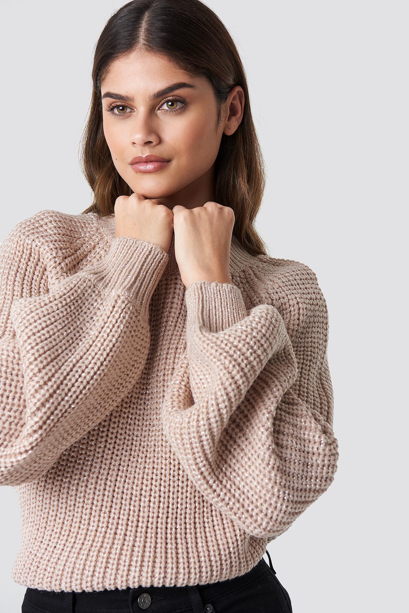 rut&circle -  Bell Sleeve Lurex Knit - Pink