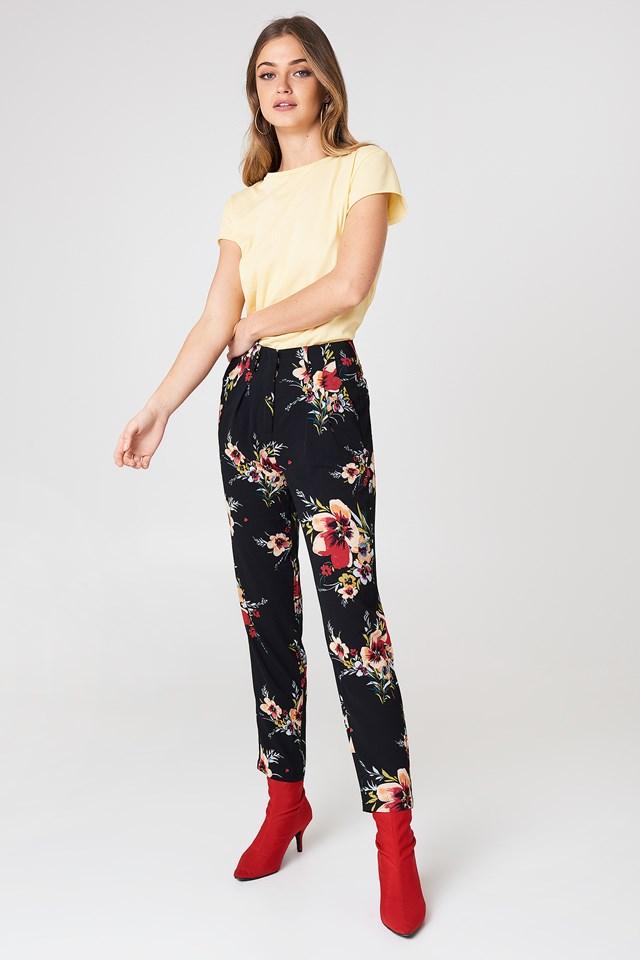 Carina Flower Pant Black Combo