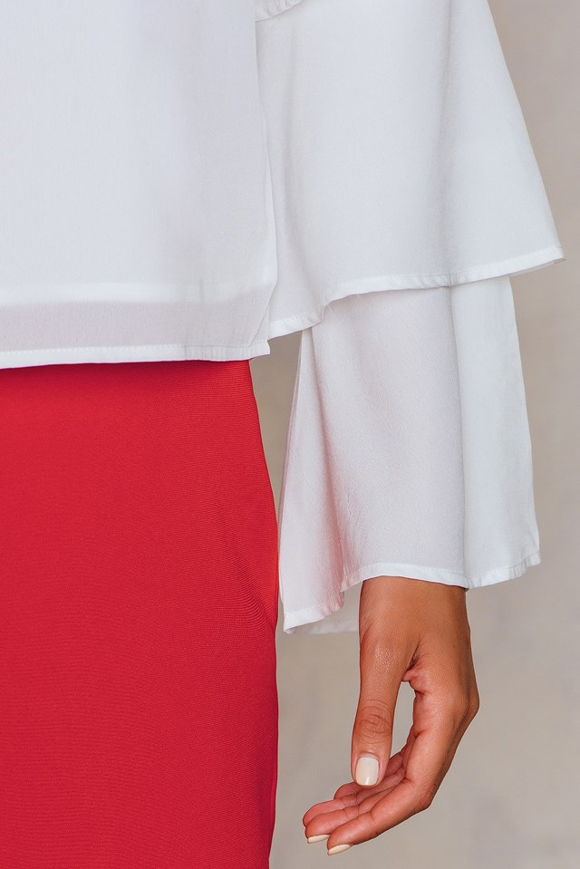 Catharina frill blouse White