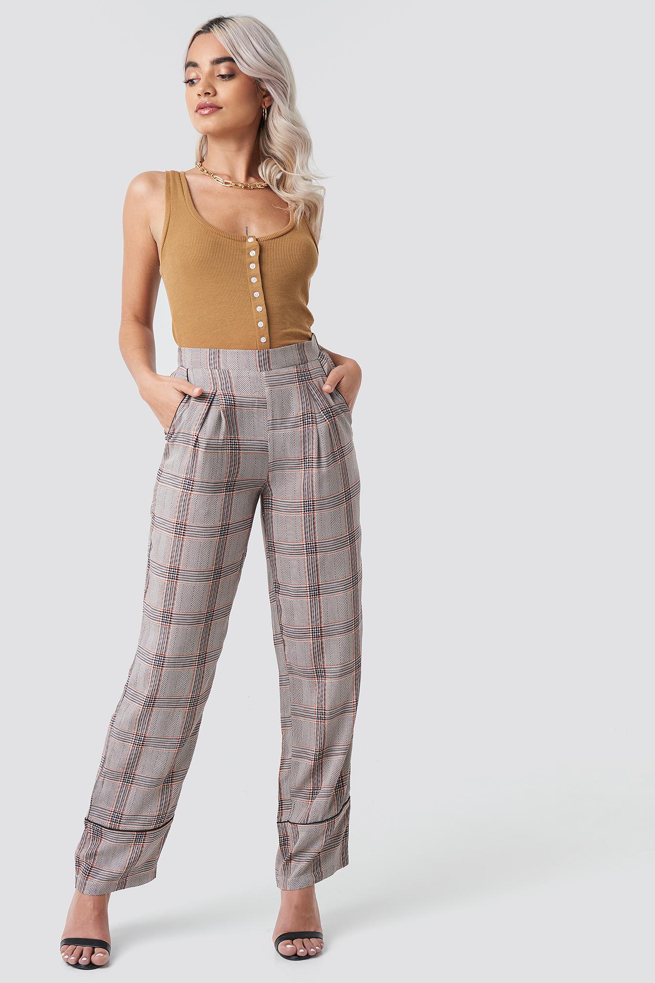 Check Piping Pant NA-KD.COM