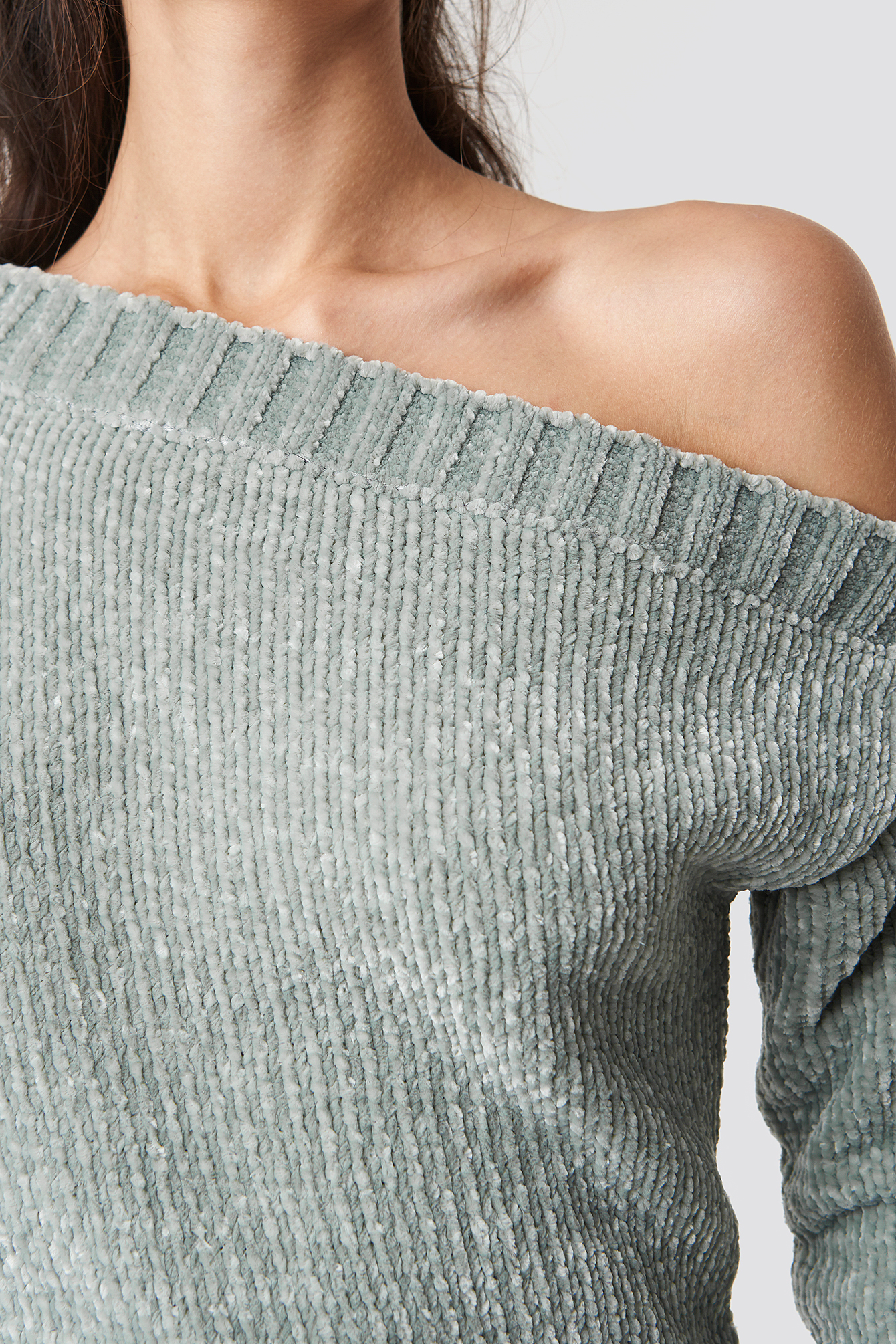 Chenille Off Shoulder Knit NA-KD.COM