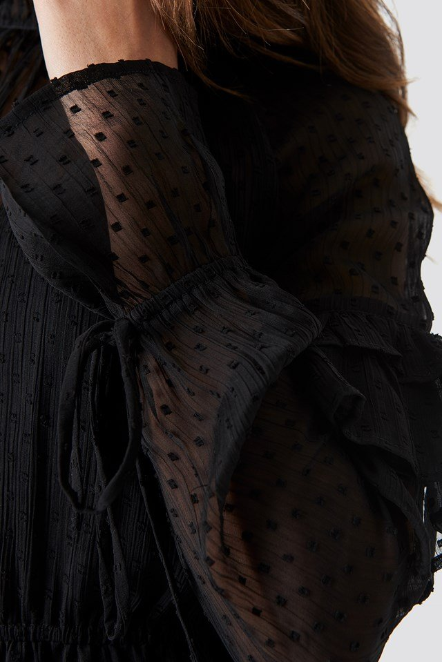 Swiss Dot Dress Black