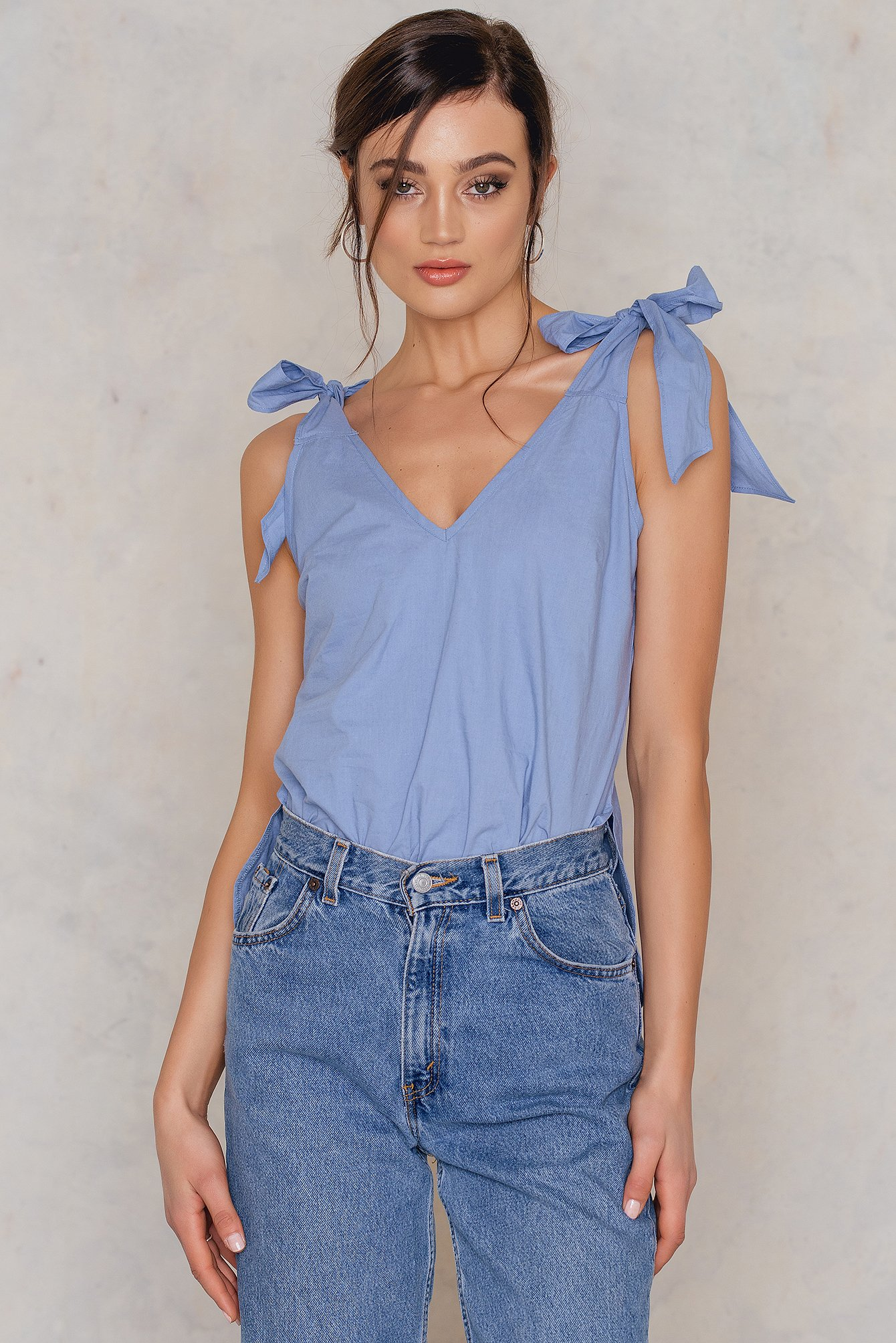 Stone Blue Ella Knot Top