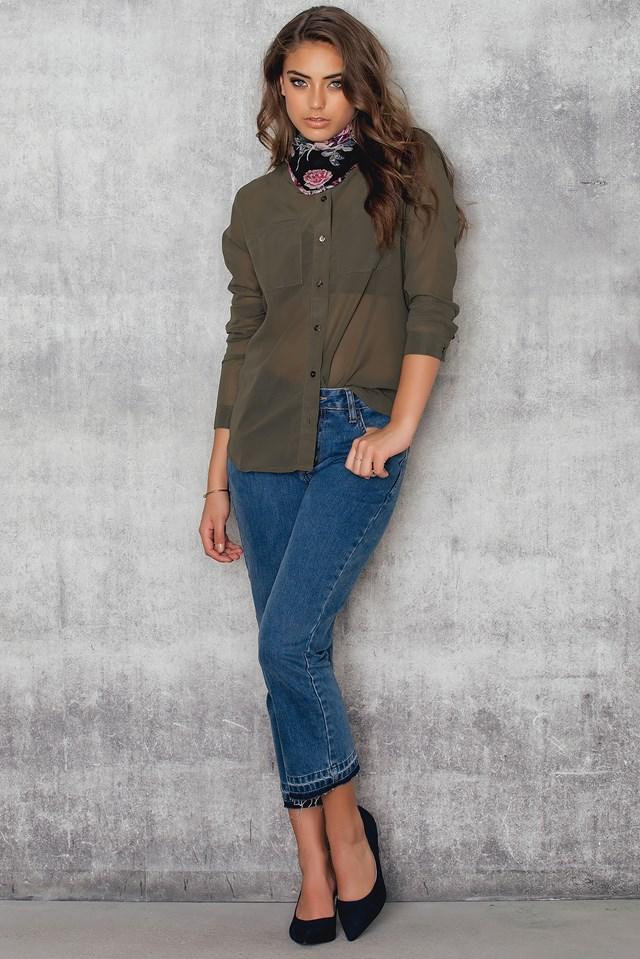 Cornelia pkt blouse Olive