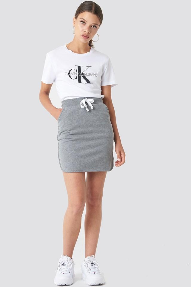 Cosy Skirt Lt Greymelange
