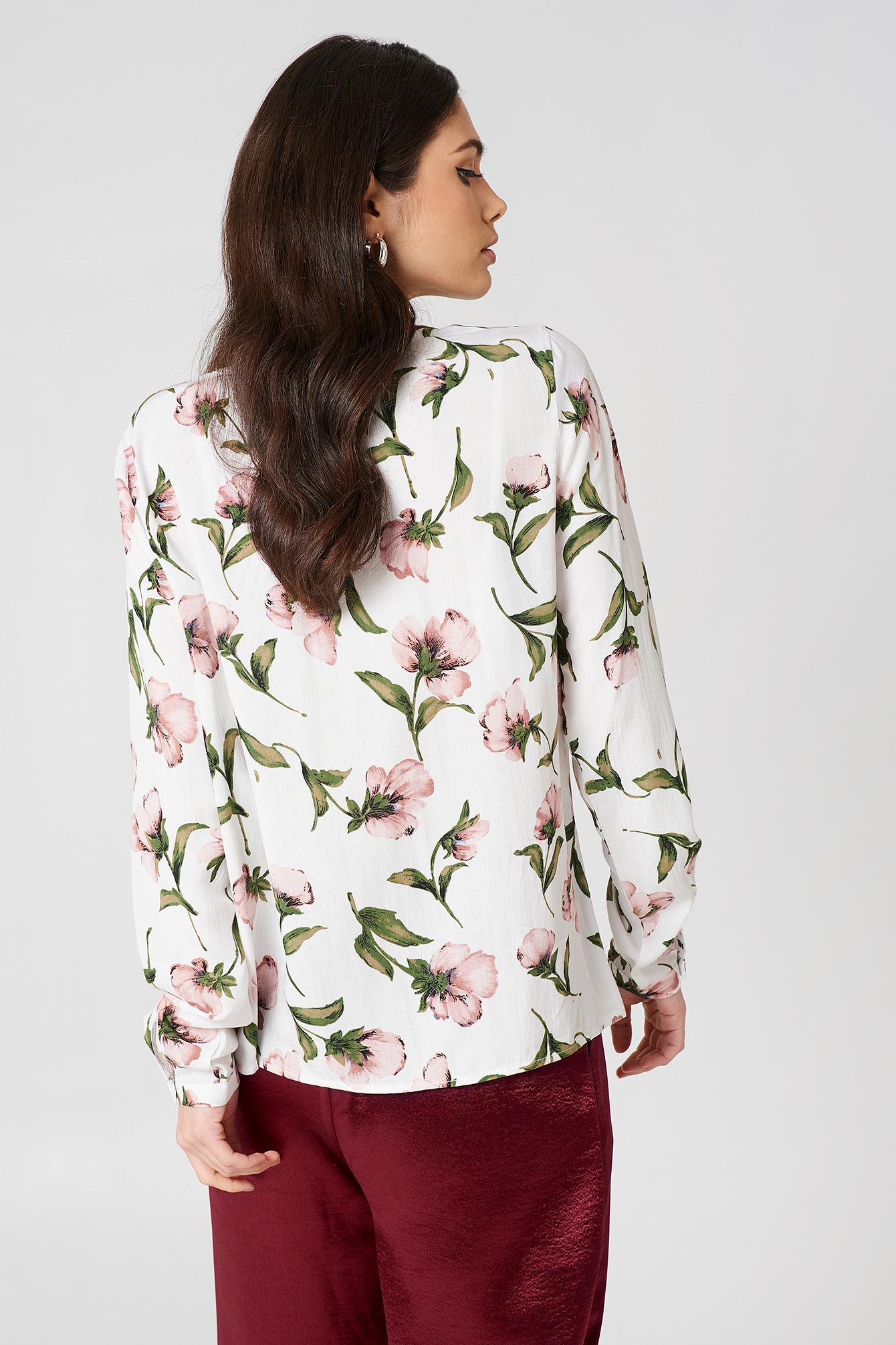 Damia Flower Blouse NA-KD.COM