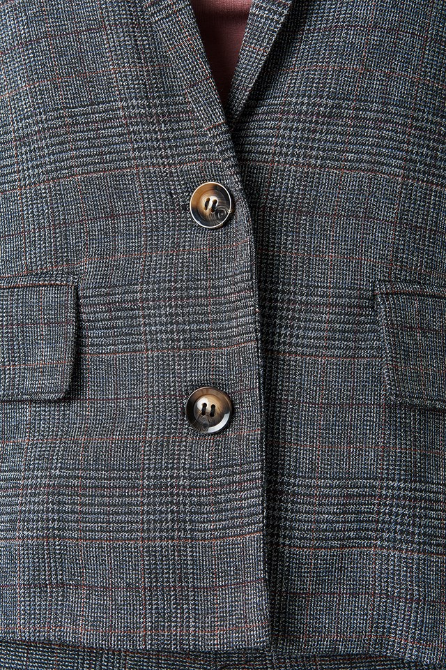 Dark Check Blazer Check