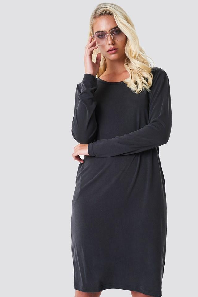 Sukienka z odkrytymi plecami Antracite