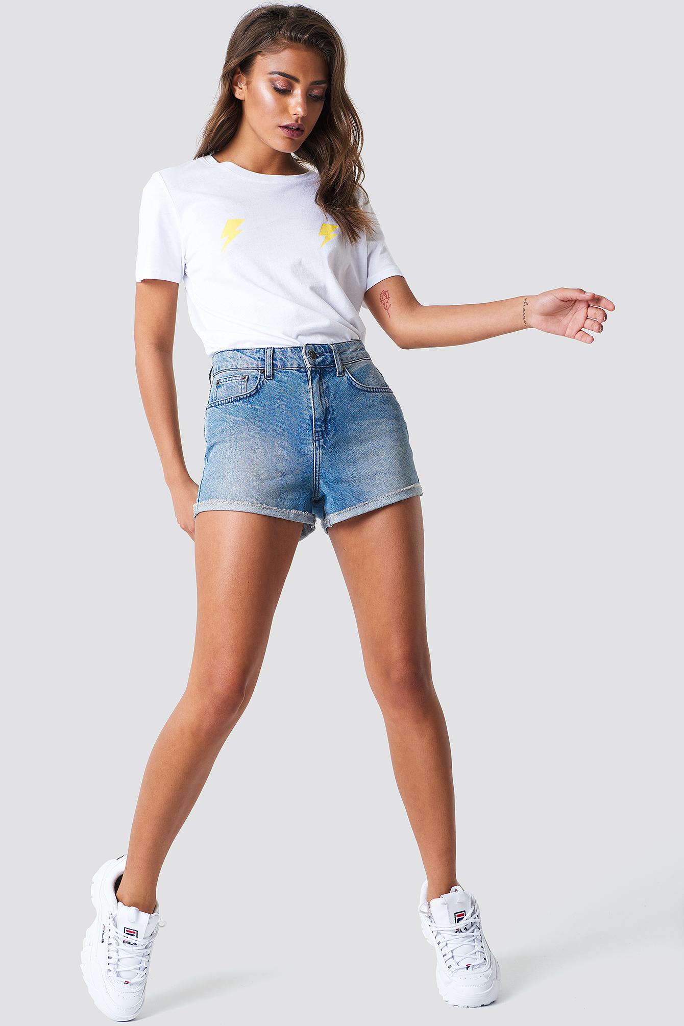 Denim Raw Shorts NA-KD.COM