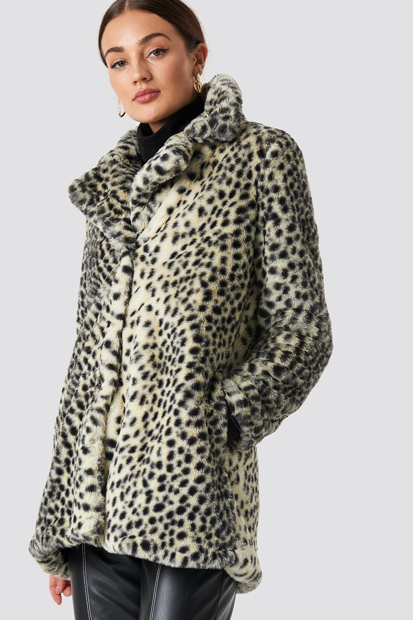 Dot Fur Coat NA-KD.COM