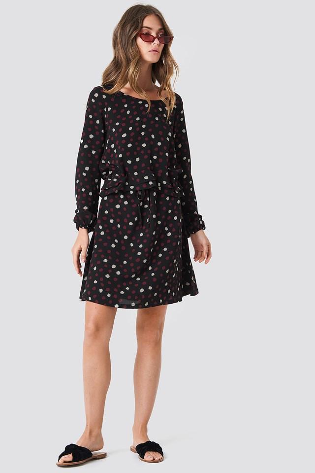 Dotty Dress Black
