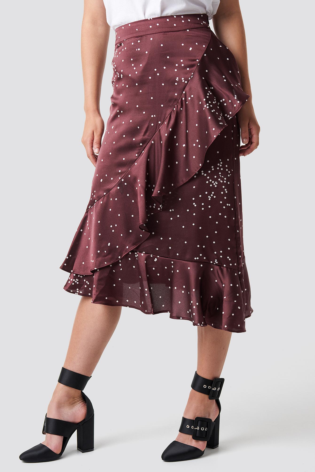 Dotty Frill Skirt NA-KD.COM