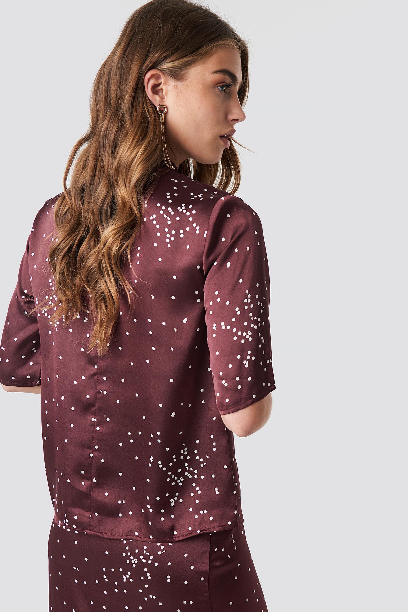 Dotty Short Sleeve Blouse NA-KD.COM