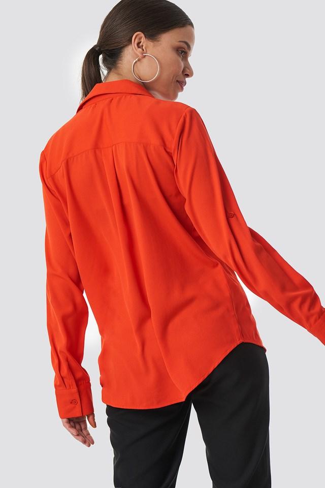 Double Pocket Shirt Red Havana
