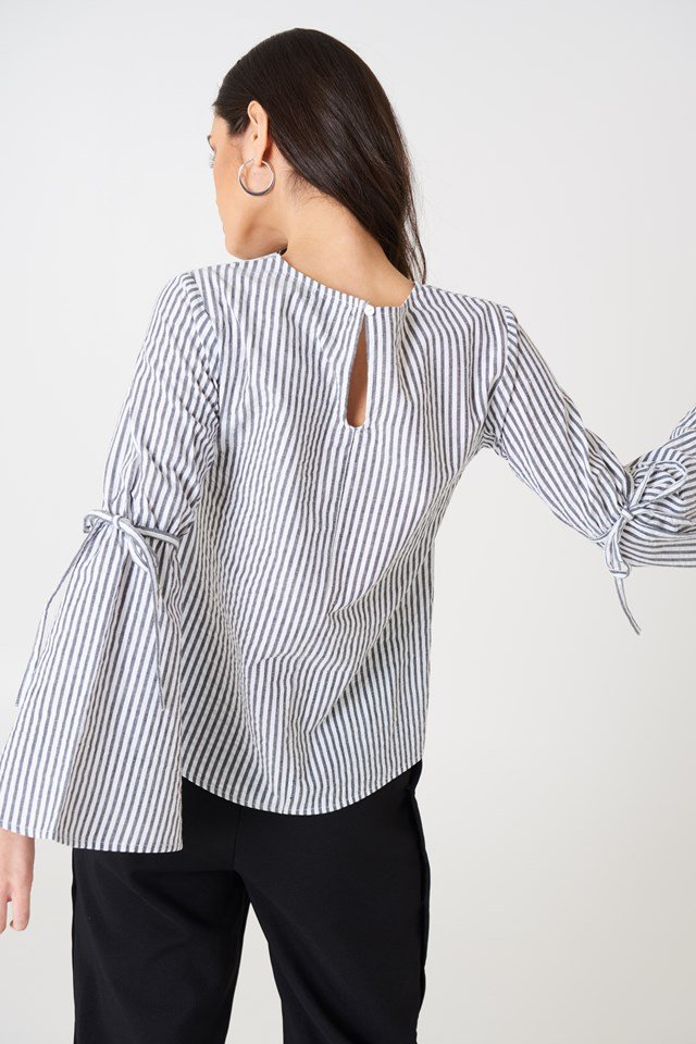 Ella Blouse Black/White