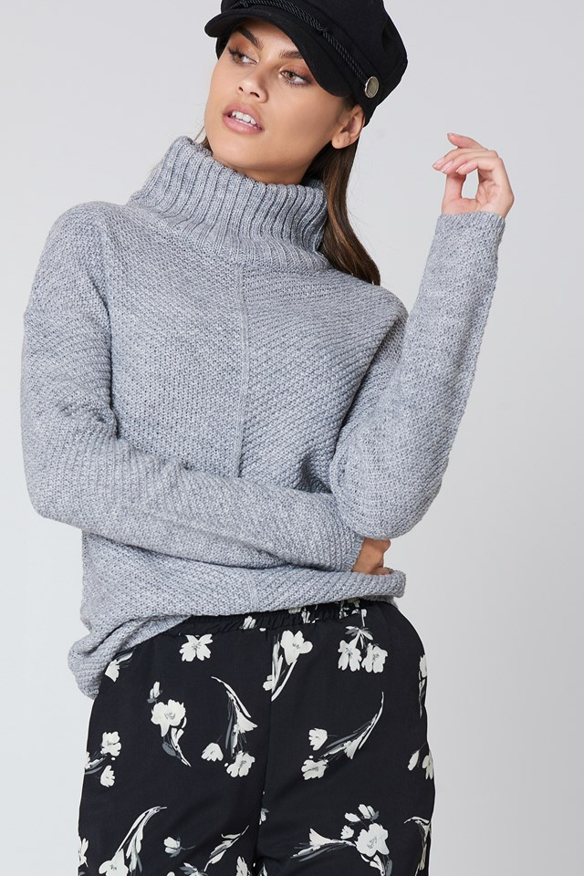 Elsa Knit Polo Lt Greymelange