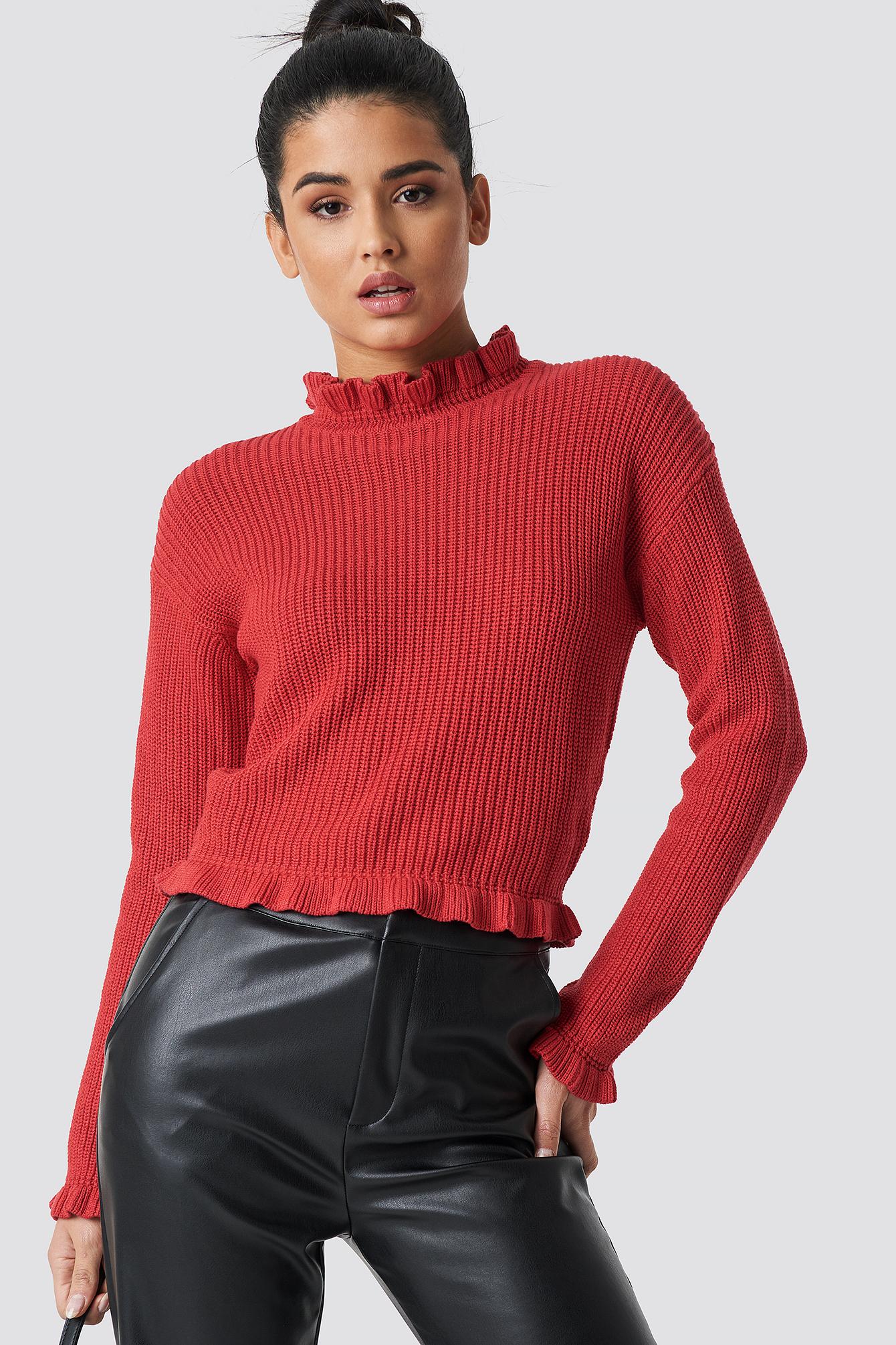 Emelie Frill Knit  NA-KD.COM