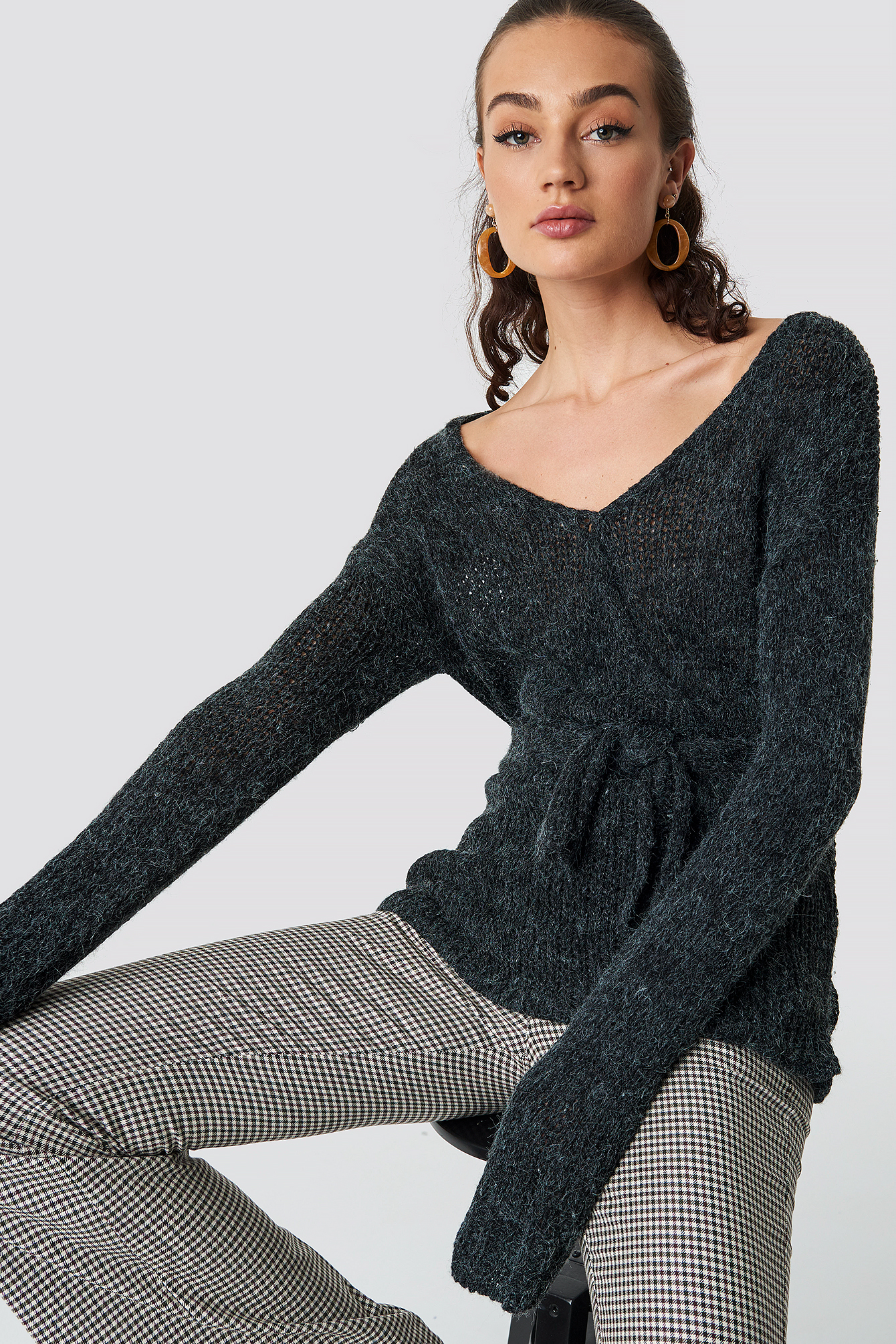 rut&circle -  Emina Wrap Knit - Grey
