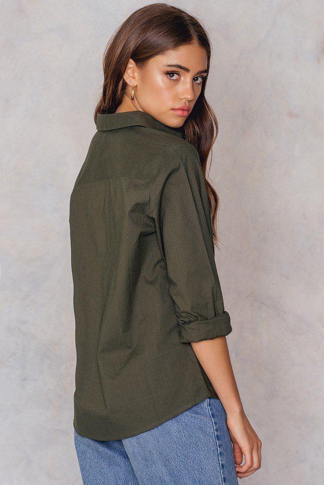 Evelin Emb Shirt Army Green