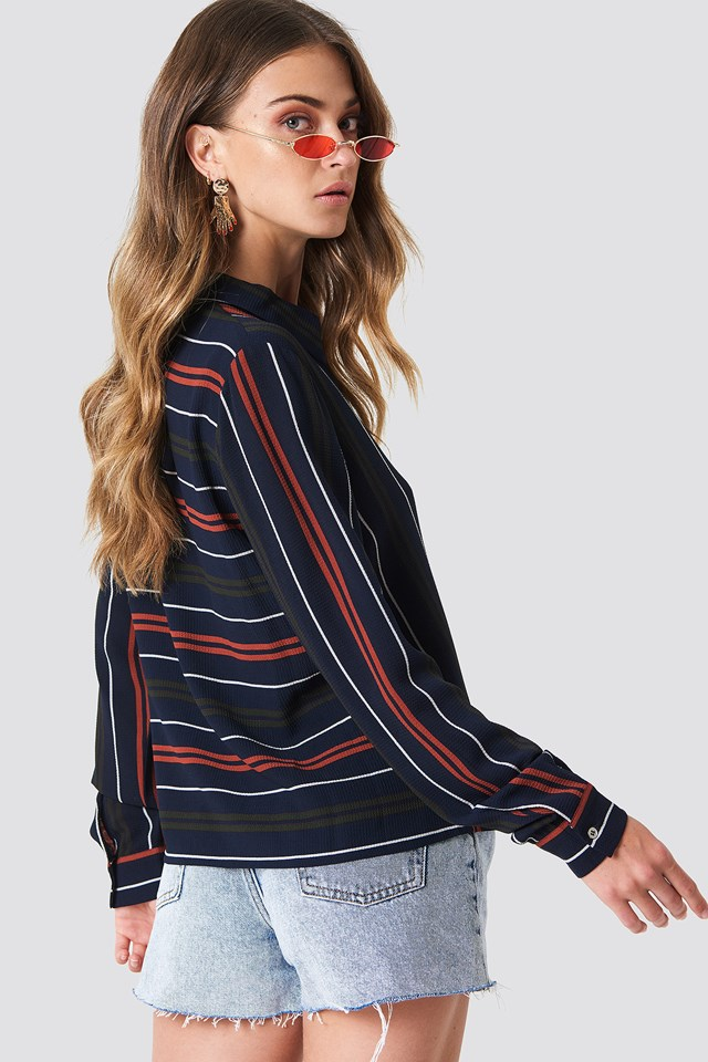 Evelyn Stripe Shirt Blue