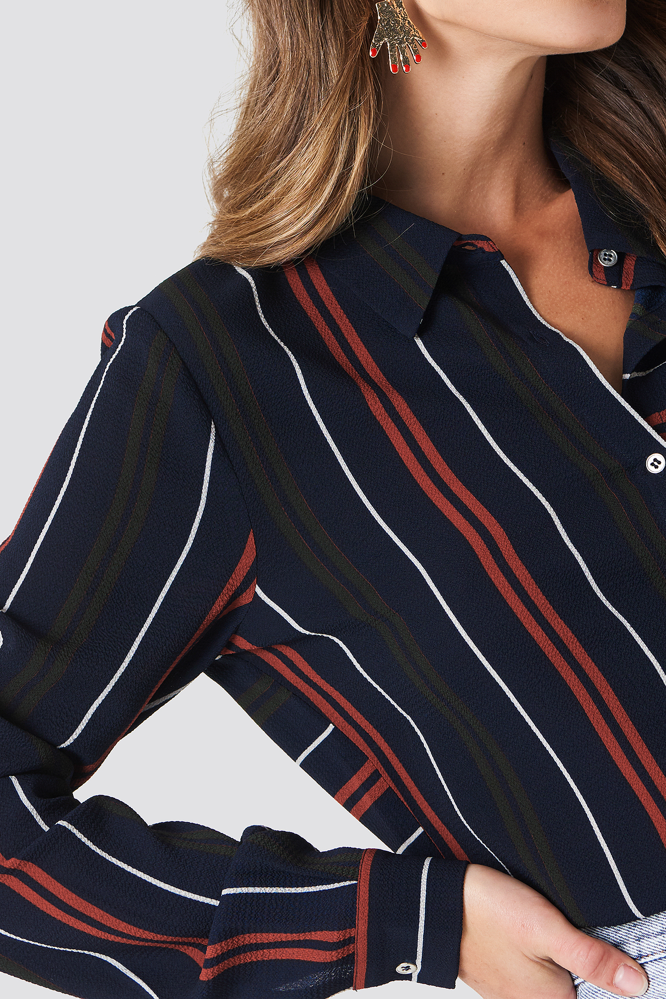 Evelyn Stripe Shirt NA-KD.COM