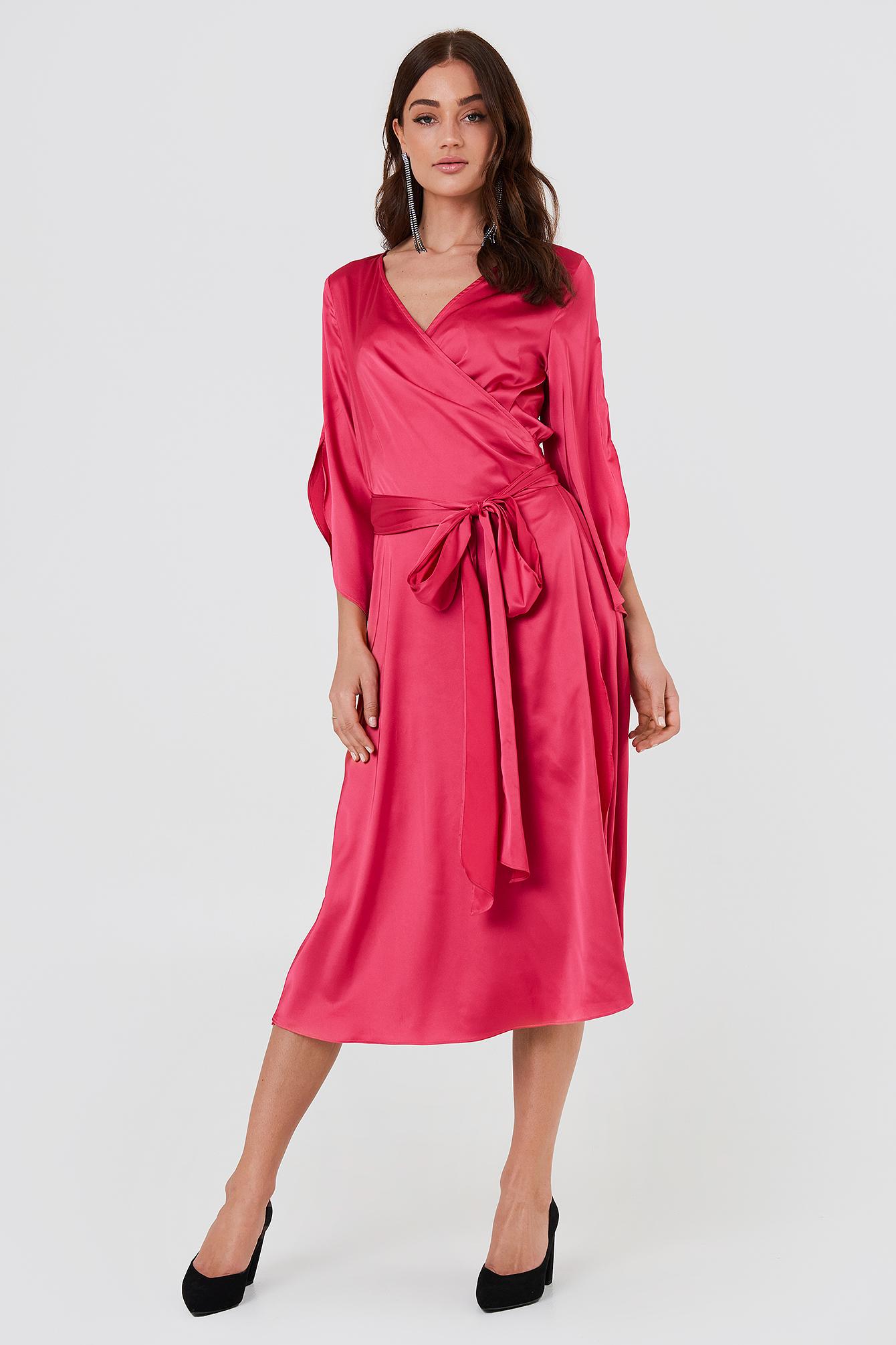 Fab Wrap Long Dress NA-KD.COM