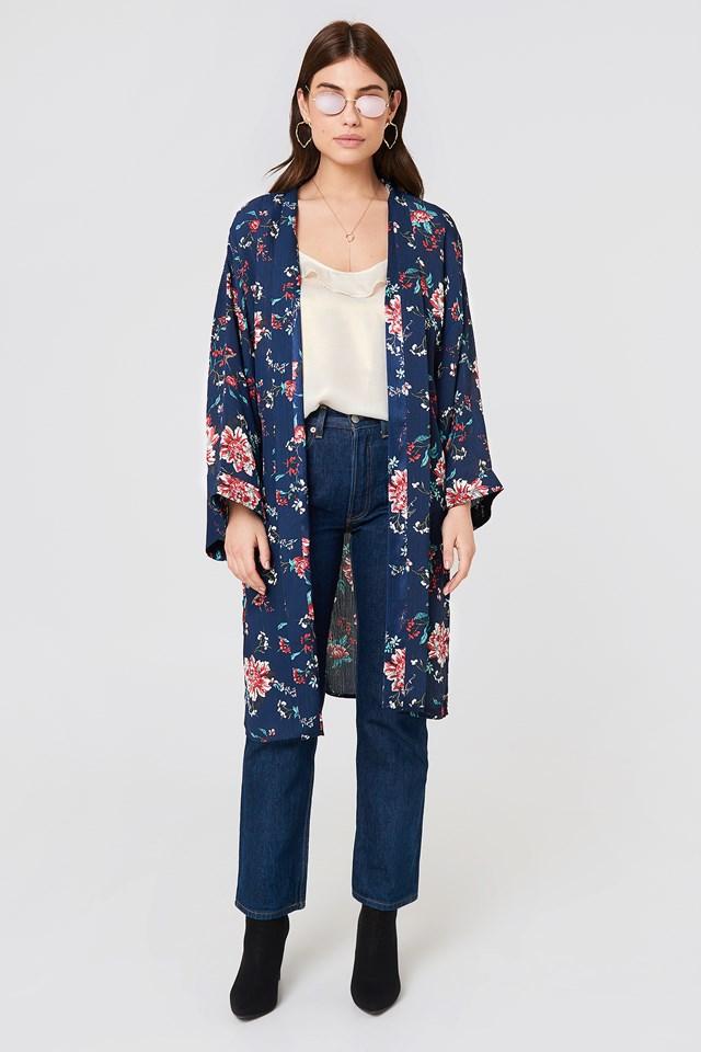 Fatima Kimono Blue Combo