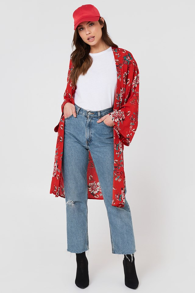 Fatima Kimono Red Combo