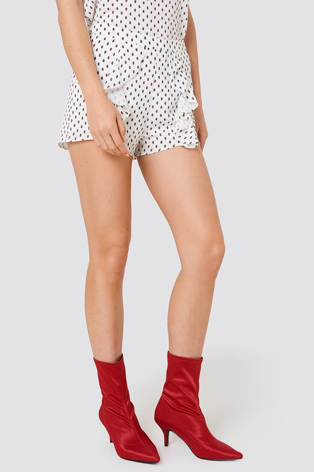 Ferry Frill Shorts Red/White