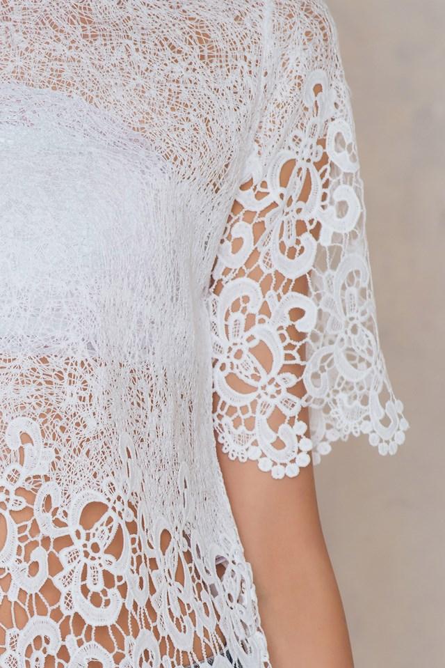 Fideli lace open back Cream
