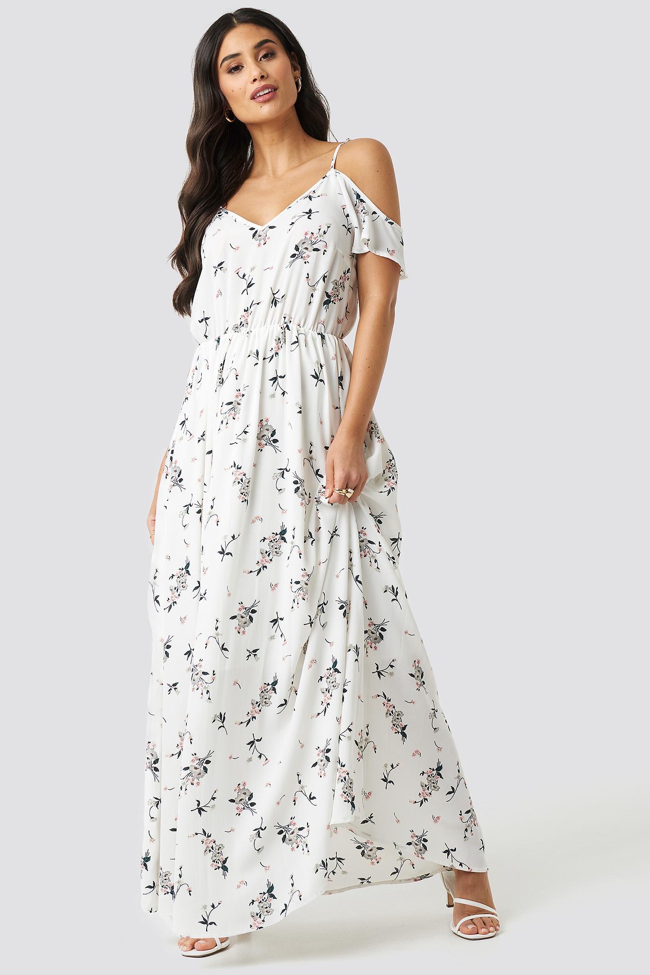 Flower Long Dress NA-KD.COM