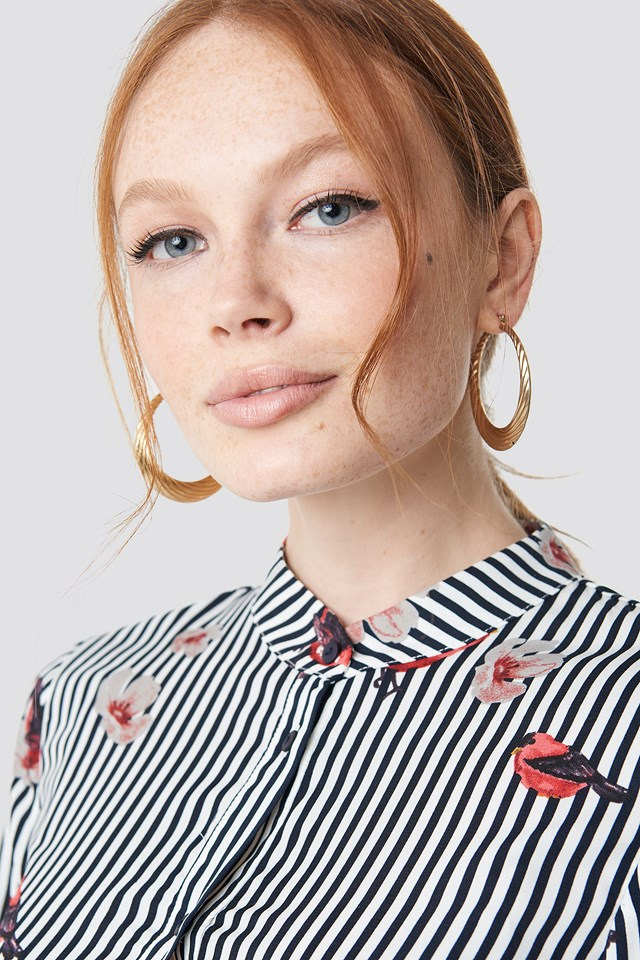 Flower Stripe Dress NA-KD.COM