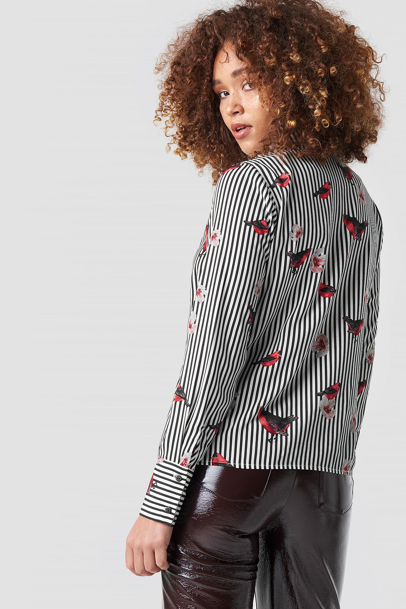 Flower Stripe Shirt NA-KD.COM