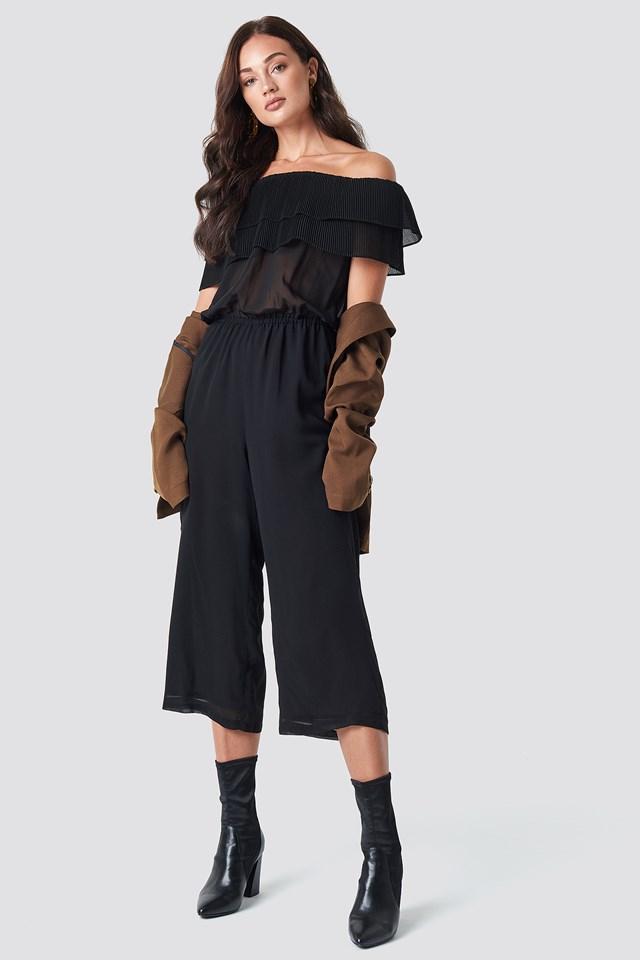 Frill Jumpsuit Black