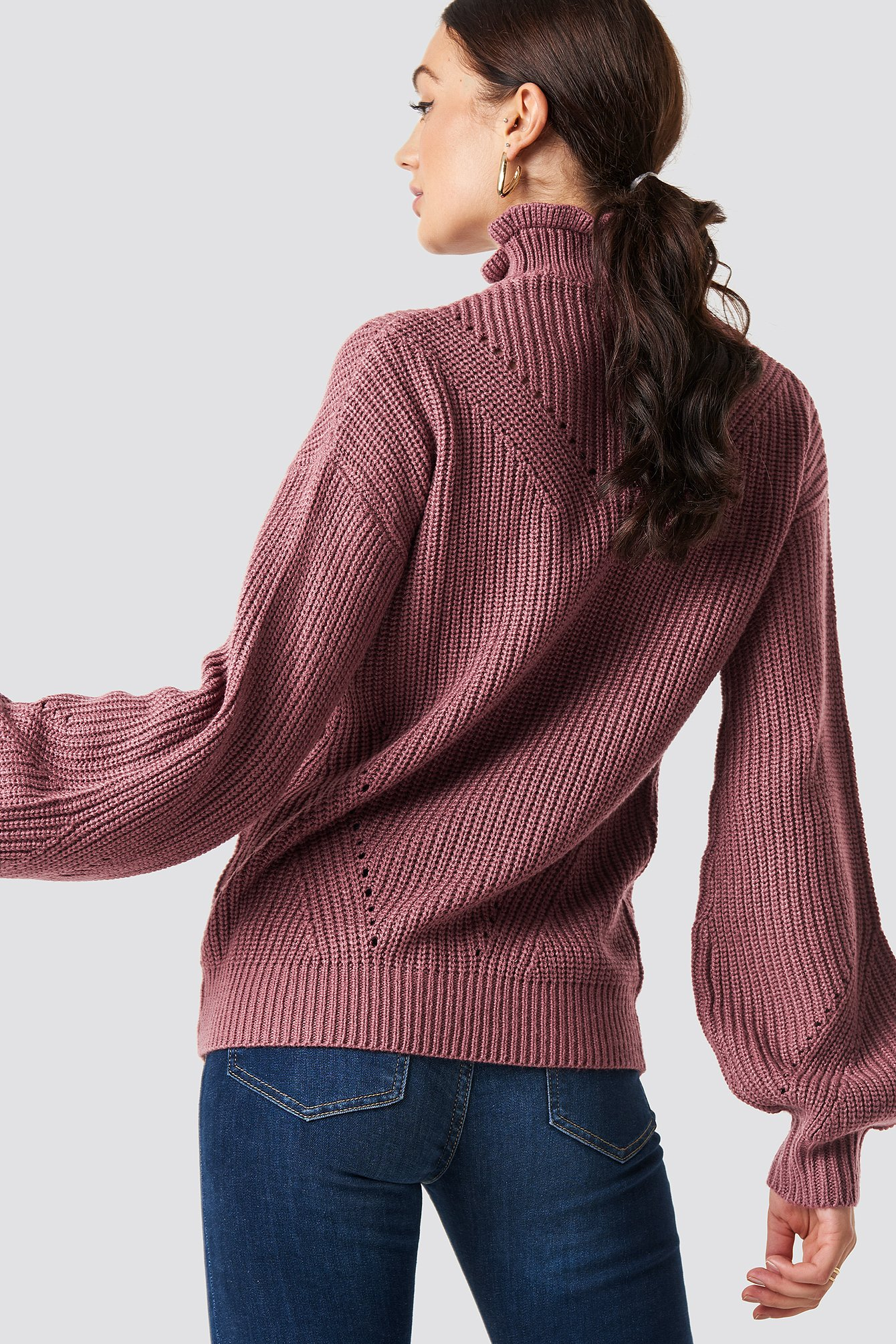Frill Neck Sweater NA-KD.COM