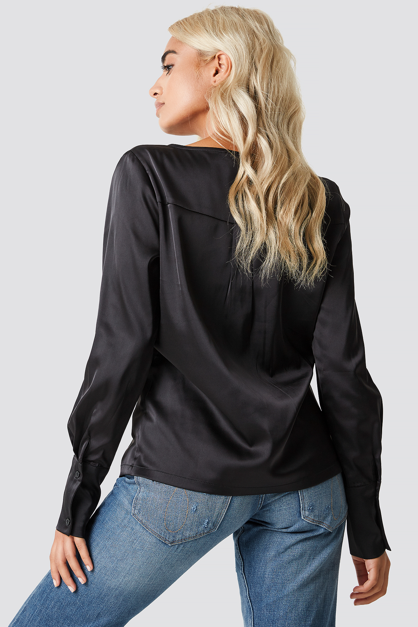 Front Placket Blouse NA-KD.COM