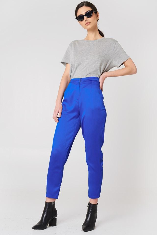 Ginny Shiny Pant Cobalt Blue