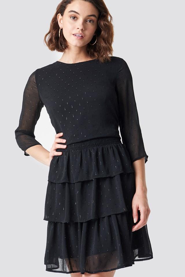 Glitter Dot Frill Dress NA-KD.COM