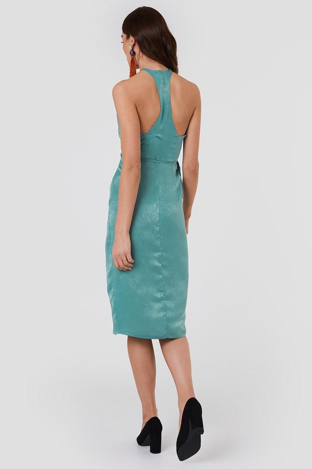 Haley Wrap Dress Green