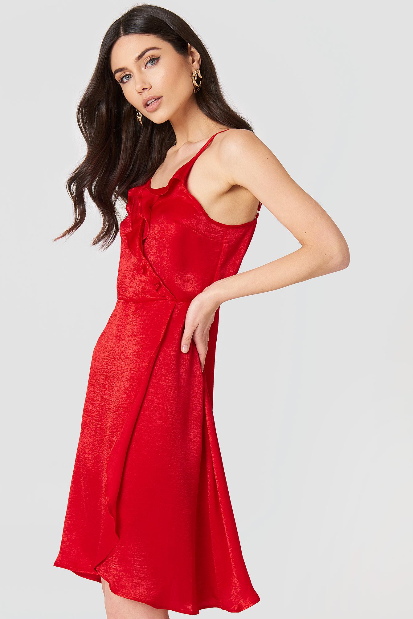 Hanna Frill Dress NA-KD.COM