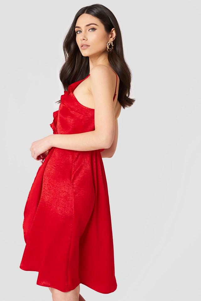 Hanna Frill Dress Red