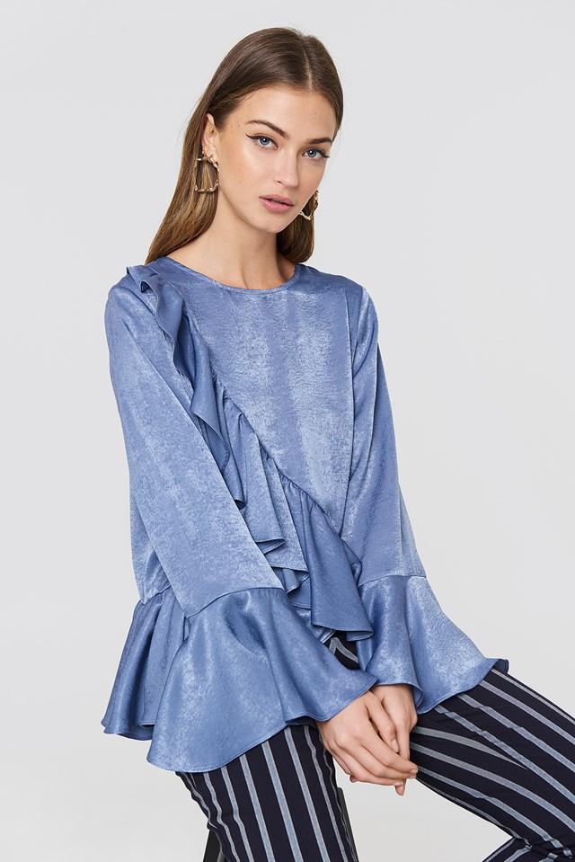 Hanna Frill Top Blue
