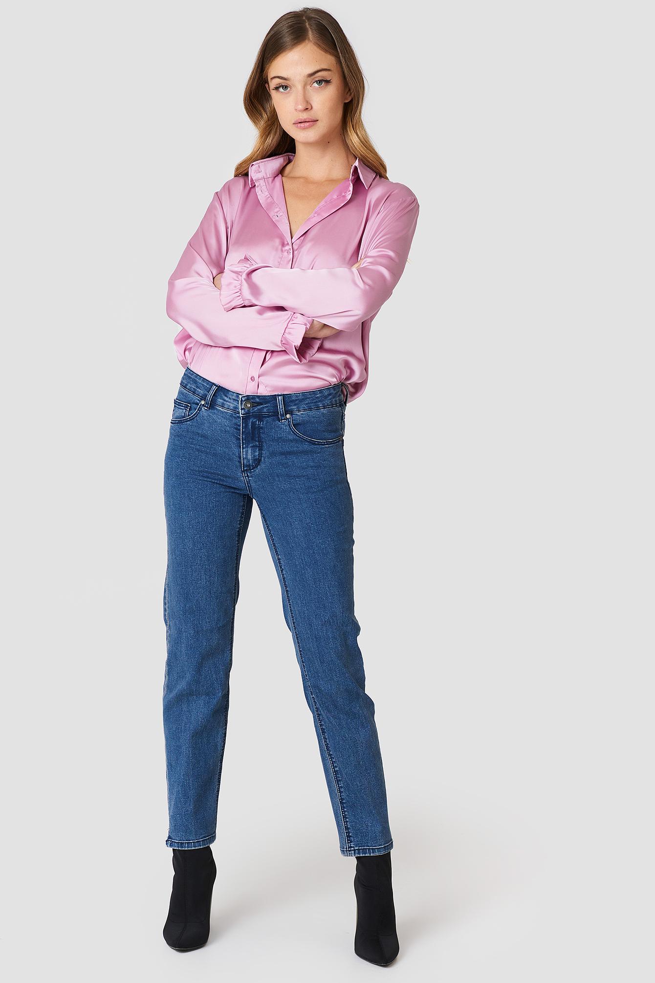 Hanne Straight Jeans NA-KD.COM