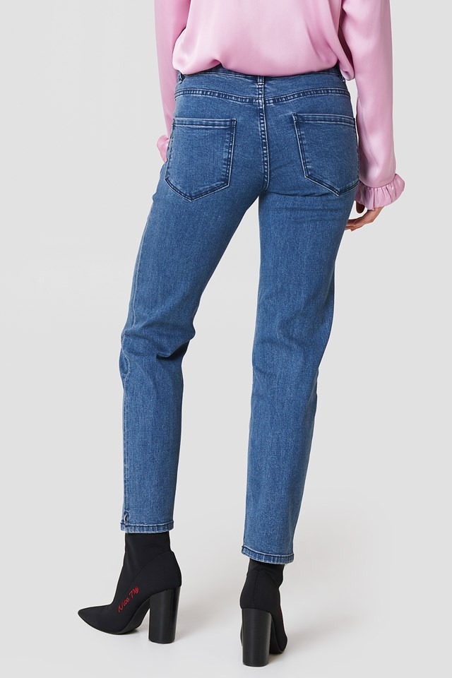 Hanne Straight Jeans Blue Wash