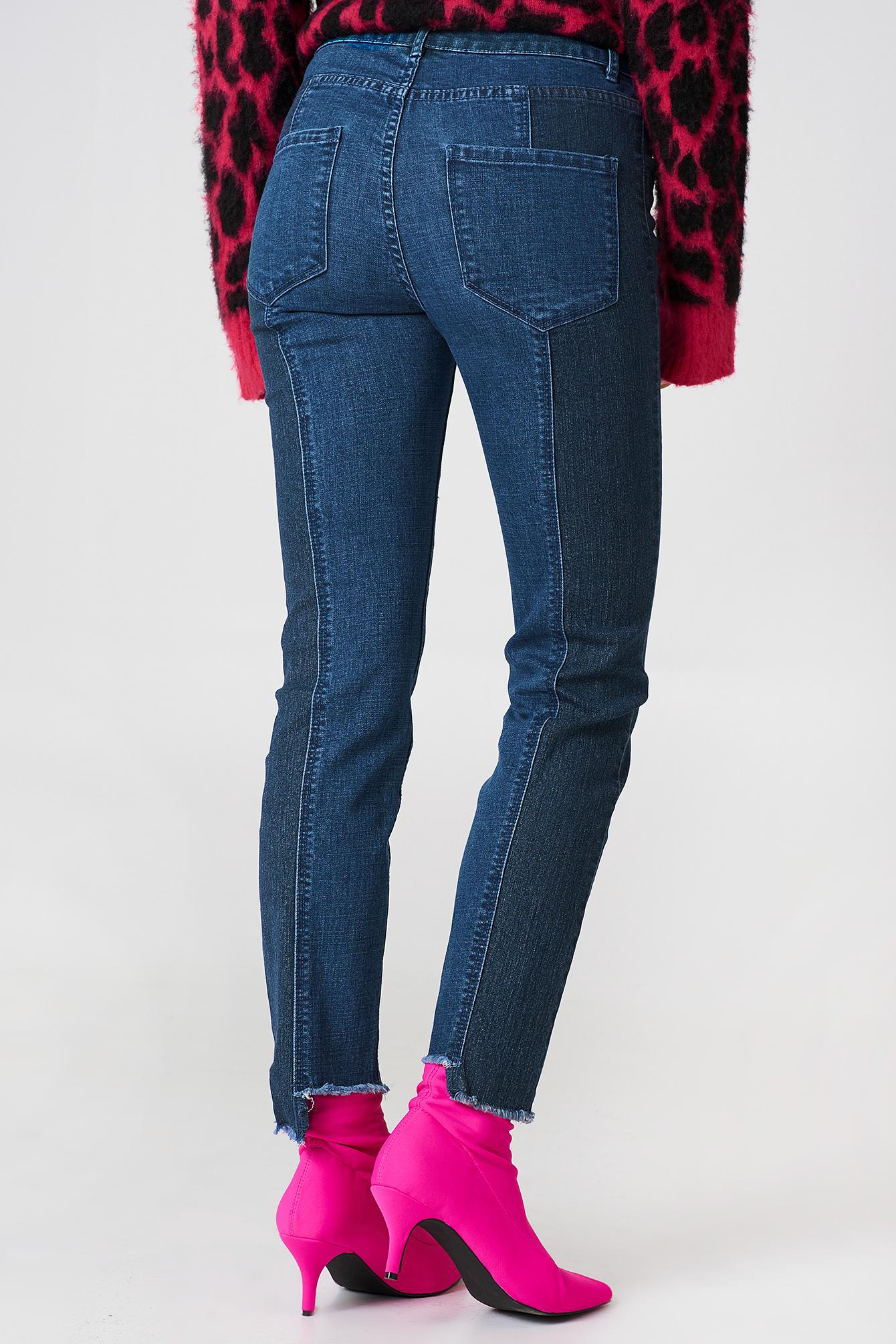 Jeansy w dwóch odcieniach Hanne NA-KD.COM
