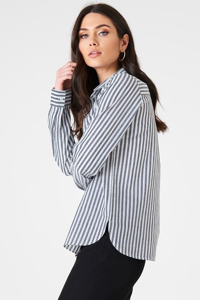 Ina Striped Shirt Blue Stripe