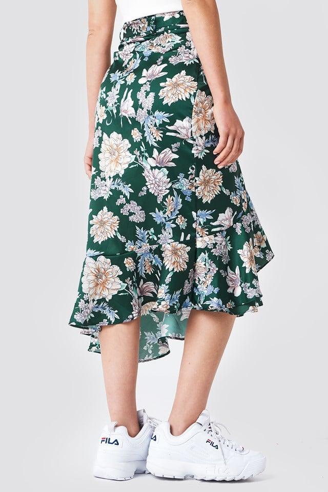 Spódnica w kwiaty Isa Green Flower